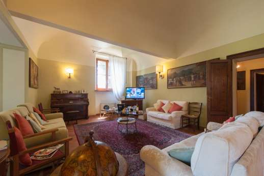 Villa Astori - A vast sitting room occupies a large part of the ground floor