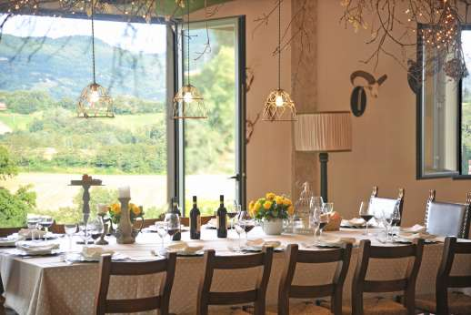 Villa Atena - Dining room opens to the terrace.