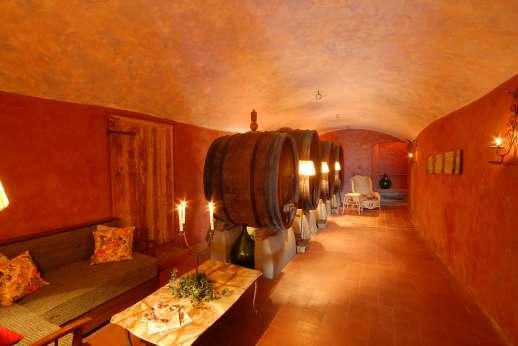 Villa Atena - Forestry wine cellar.
