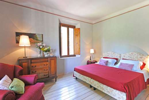 Villa Atena - Main house, double bedrooms with air conditioning.