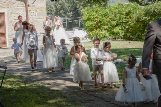Weddings at Villa Atena - The wedding train