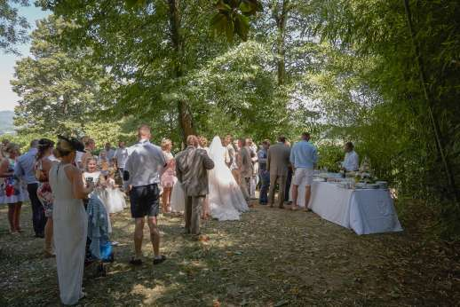 Weddings at Villa Atena - garden reception