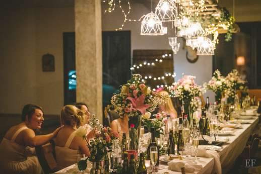 Weddings at Villa Atena - The forestry set for dining