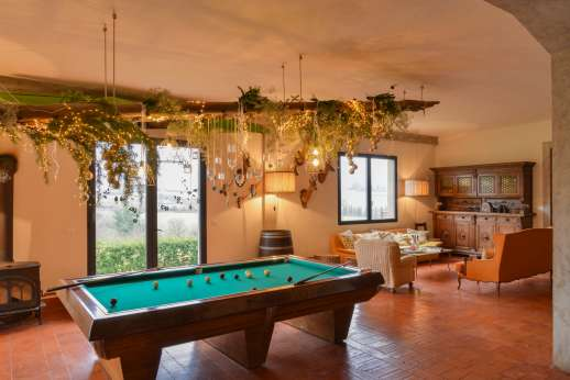 Weddings at Villa Atena - The forestry in its normal setup with pool table