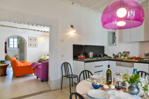 Villa Caprolo - Kitchen in the independent apartment