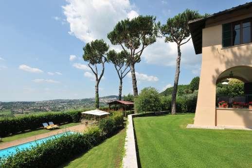 Villa delle Lance - The pool set on a lower terrace.