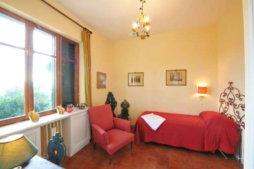 Villa delle Lance - One of the single air conditioned bedrooms.