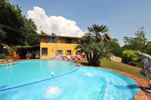Villa Denise - The private pool and well maintained garden looking towards the villa