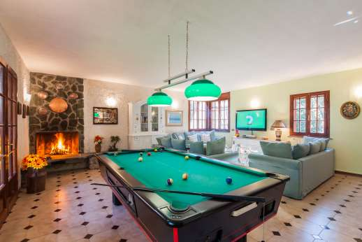 Villa Denise - A billiards table (or pool table if you prefer) in the living room