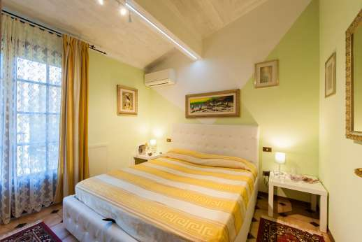 Villa Denise - Shot of one of the air-conditioned double bedrooms, first floor.