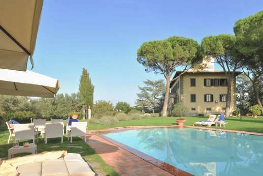 Villa di Bagnolo - The private swimming pool, 6 x 12m/20 x 39 feet.