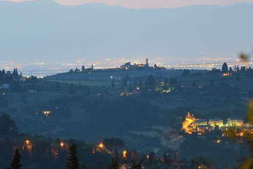 Villa di Bagnolo - A hilltop position ensures superlative views of Florence and the Tuscan countryside.
