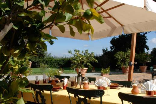 Villa di Bagnolo - Dine al fresco, a great cook service is available.