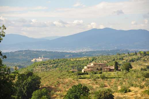 Villa di Bagnolo - Views of the hills of Tuscany.