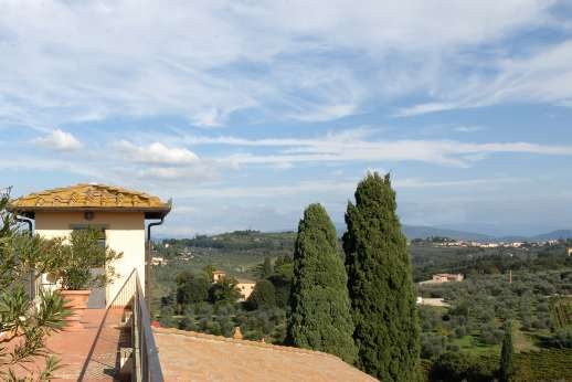 Villa di Bagnolo - Views from the roof terrace.