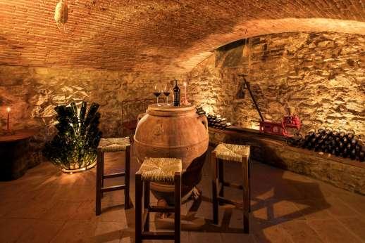 vVilla di Bagnolo - The 'cantina' wine cellar