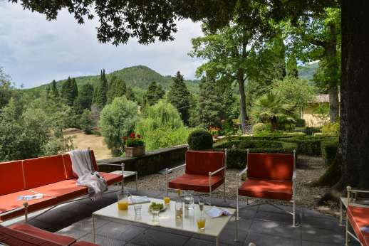 Villa Di Masseto - Lower terrace wich includes a outdoor seating area