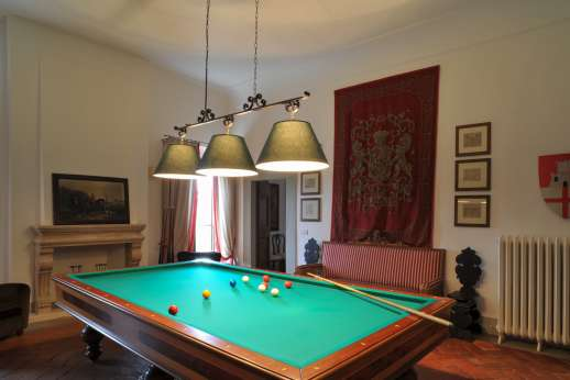 Weddings at Villa Di Masseto - The billiard room, perfect for some games.