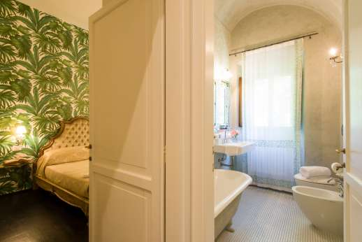 Weddings at Villa Di Masseto -  La Romantica leading through to bathroom