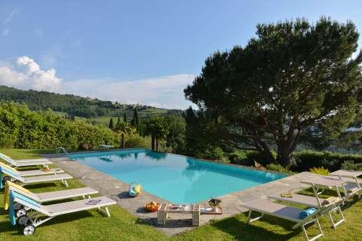 Villa di Pile - Villa di Pile set in the hills south-east of Greve in Chianti. Tuscany.