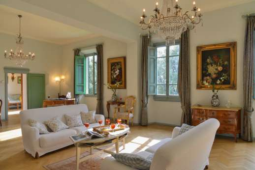 Villa di Pile - The first floor sitting room.