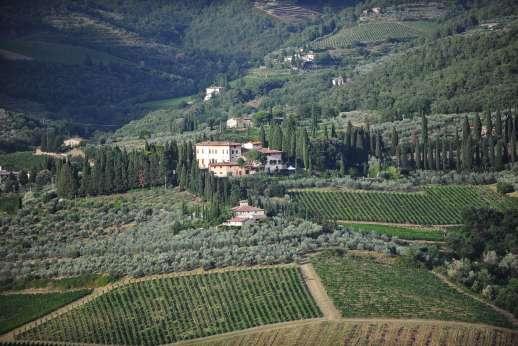 Villa di Pile - Vignamaggio, just below le pile is the birth place of Michelangelo's Mona Lisa!