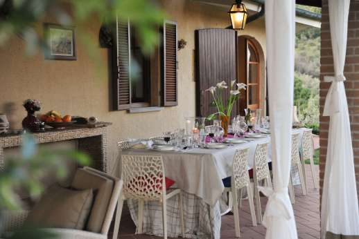 Villa Doveri - The loggia is to be enjoyed at any time of day.