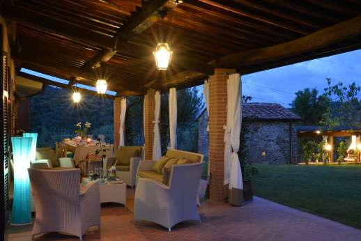Villa Doveri - The Loggia is fully lit and an enjoyable area where to spend an evening.