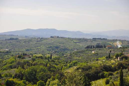 Villa Giotto - Views of rolling Tuscan countryside.
