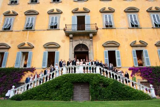Weddings at Villa Lungomonte - Wedding party at Lungomonte