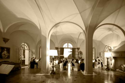 Weddings at Villa Lungomonte - The reception can be held in the ball room.