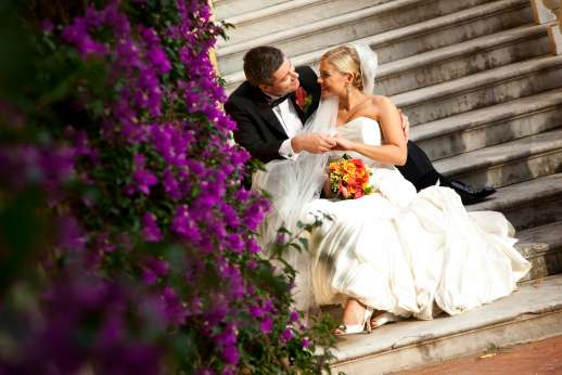 Weddings at Villa Lungomonte - A loving couple on their special day