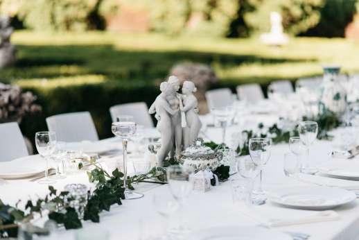 Weddings at Villa Zambonina - Table formally set ready to receive guests