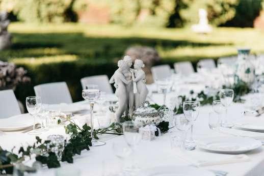Weddings at Villa Zambonina - Table formally set ready to receive guests