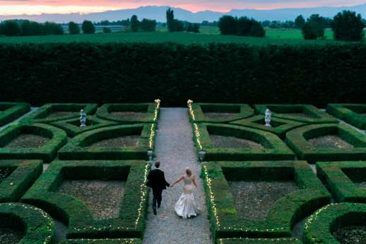 Weddings at Villa Zambonina - The manicured Italianate Gardens.