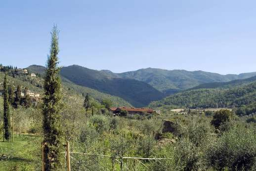 The Hamlet Casamora - Views of the Pratomagno Mountains.