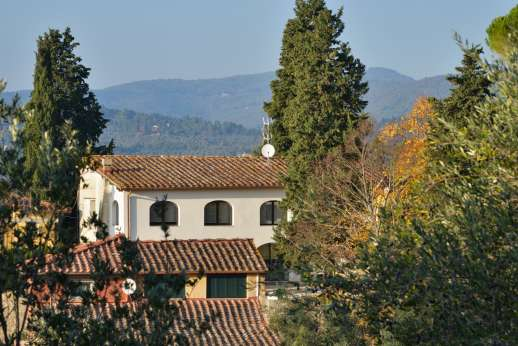 Villa Olmetto - The villa enjoys view of the Tuscan mountains