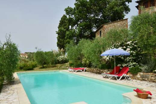 The Estate of Casa Vecchia - One of the two pools, Casa Vecchio has the gated swimming pool, 6 x 12m/20 x 39 feet, is set about 30m/100 feet from the house