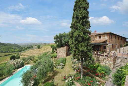 The Estate of Casa Vecchia - Il Giogo,  Chianti Classico region, near the village of San Casciano in Val di Pesa.
