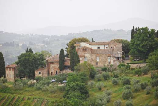 The Estate of Casa Vecchia - View of the estate from the hillside