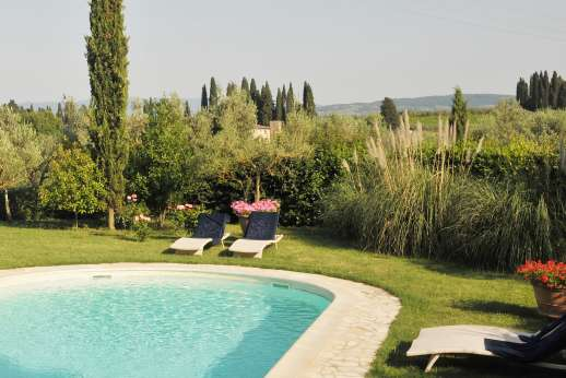 The Estate of Casa Vecchia - The gated swimming pool, is set about 30 meters/100 feet from the house.