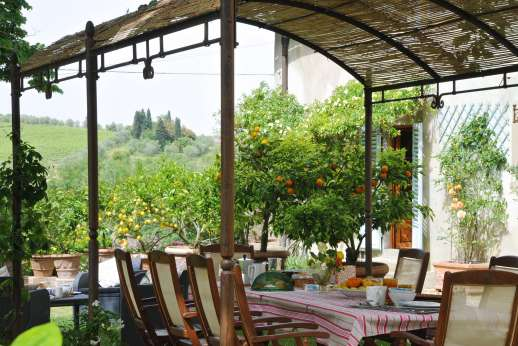 The Estate of Casa Vecchia - Al fresco dining in the garden.