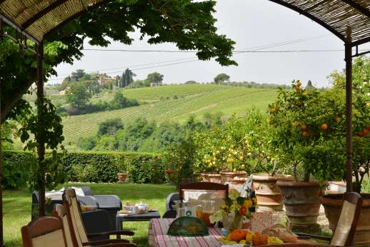 The Estate of Casa Vecchia - With wonderful views of the rolling Tuscan countryside.