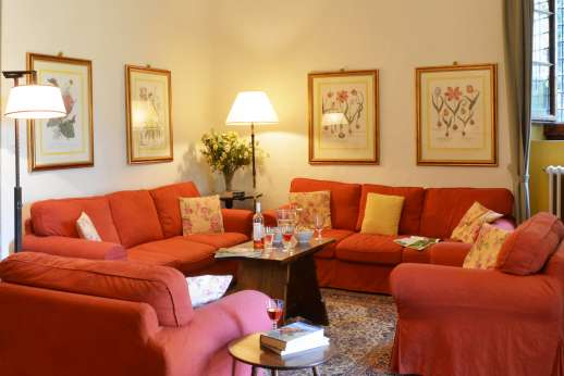 The Estate of Casa Vecchia - The living room that leads out to the garden.