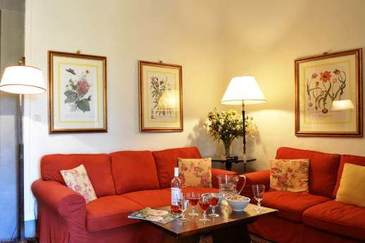 The Estate of Casa Vecchia - Another view of the sitting room, ADSL wireless internet is available.