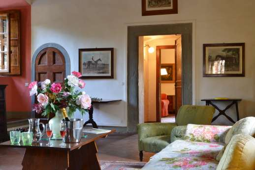 The Estate of Casa Vecchia - Traditional Tuscan features such as tiled floors and high ceilings were preserved during a restoration of the house.