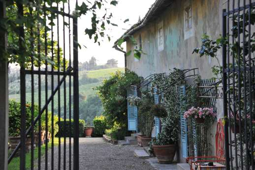 The Estate of Casa Vecchia - The gated entrance leads you to Casa Vecchia.