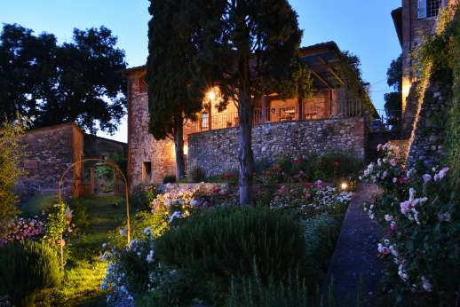 The Estate of Casa Vecchia - The old stone farmhouse forms part of a small Renaissance hamlet.
