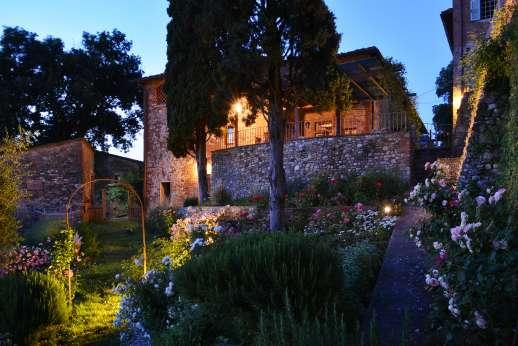 The Estate of Casa Vecchia - The old stone farmhouse forms part of a small Renaissance hamlet.