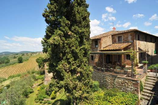 The Estate of Casa Vecchia - Il Giogo, is situated in the western part of the Chianti Classico, Tuscany.